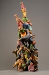 Jennifer McCandless (American) – Baby Boomer Pile Up, 2012. Ceramic stoneware, 30 x 20 x 20 inches