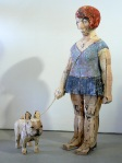 Carol Schwartz (American) – Harriet and Louis, 2009. Wood and paint, 52 x 14 x 13 inches