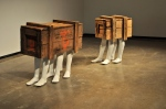 Shawn Lefevre (American) – The Others Will Follow, 2012. Plaster, steel and wood, 90x37x21 inches