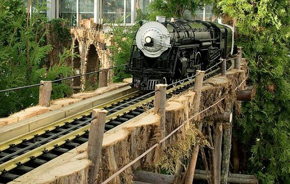 Experience the magic of the train in the Railway Garden.