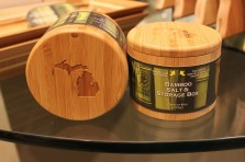 Bamboo Salt and Storage Box - $13.49