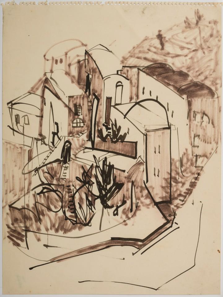 Landscape Study (Haute de Cannes) 1953-54