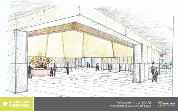 Welcoming the World Honoring a Legacy of Love 3 Welcome Center Garden Pavilion